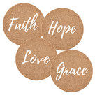 Kurken-onderzetters-faith-hope-love-grace