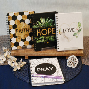 Faith - Hope - Love - Pray Journal set