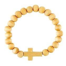 Houten armband kruis naturel