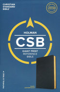 CSB giant print reference bible black leatherlook