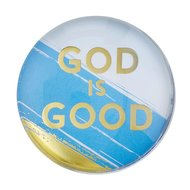 Magneet glas rond God is good